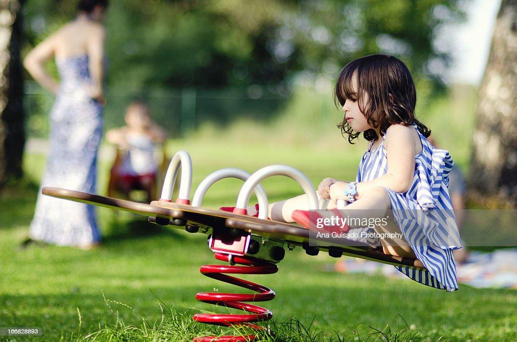 Playing alone : Stock Photo