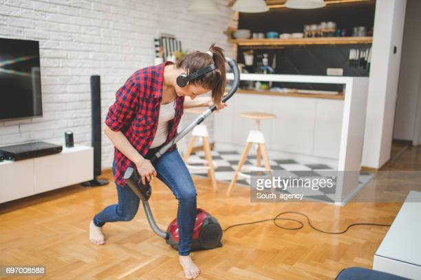 playing an instrument - tv housewife stock photos and pictures