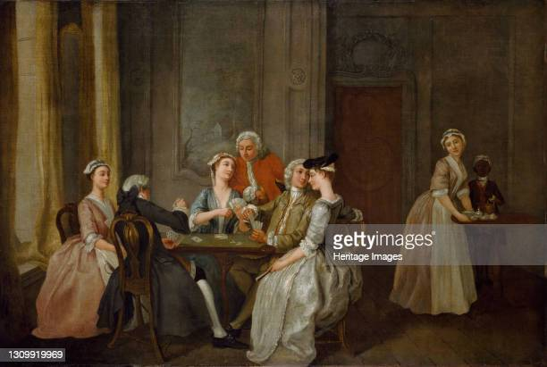 Playing At Quadrille, 1740-50. Artist Francis Hayman. .