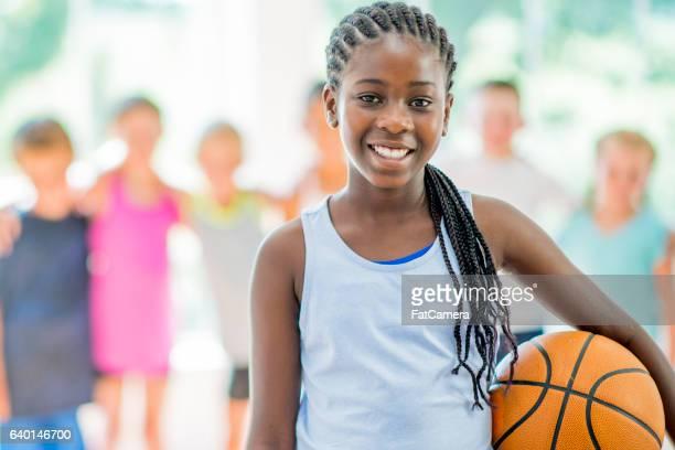 Playing Basketball at the Gym