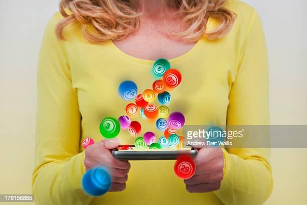 Playing bingo on-line using a smart phone