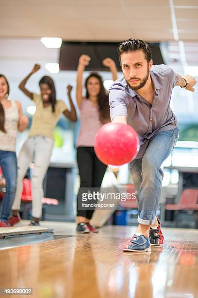 playing bowling , happiness players