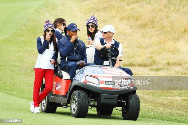Playing Captain Tiger Woods of the United States team, girlfriend Erica Herman, girlfriend of Justin Thomas of the United States team, Jillian...