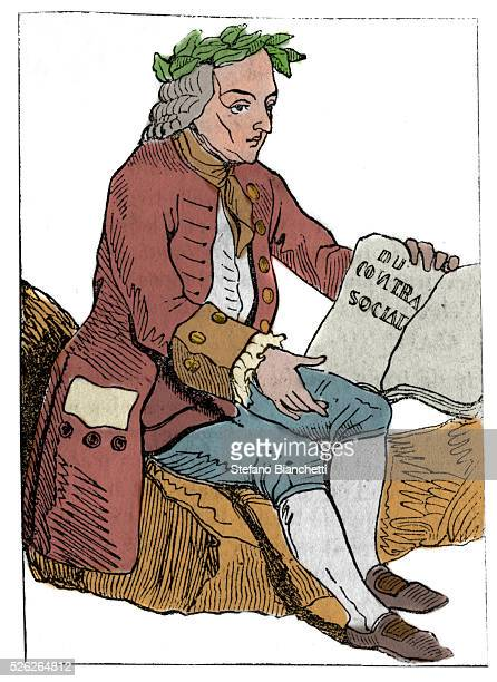 Playing card of the French Republic published at the National Convention on the 21/09/1792 after the fall of Royalty the philosopher figure as Jean...