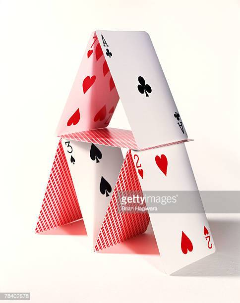 Playing card pyramid