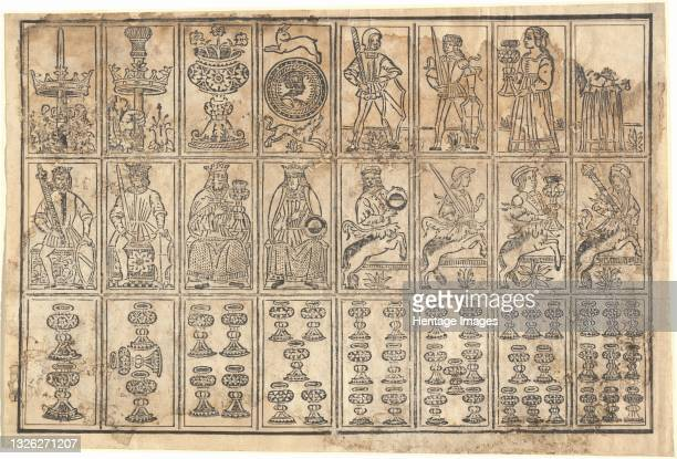 Playing Cards, 15th century. Artist Unknown.