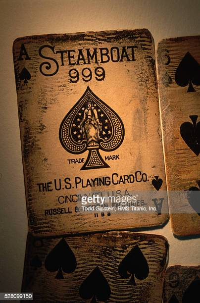 playing cards from the rms titanic - gipstein stock pictures, royalty-free photos & images