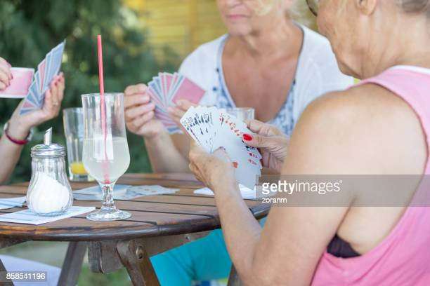 playing cards - shuffling stock photos and pictures
