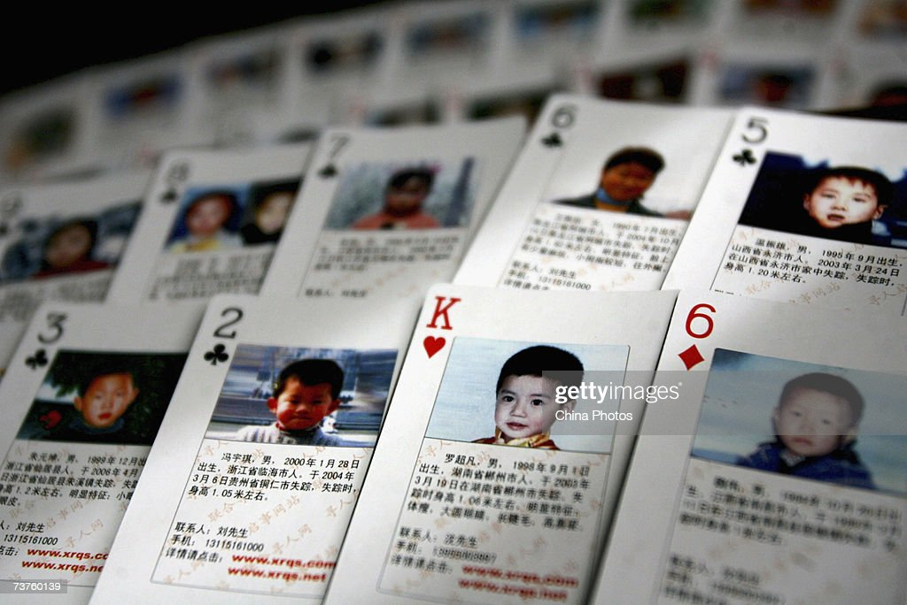 Volunteer Creates Playing Cards To Help Find Missing Children : News Photo