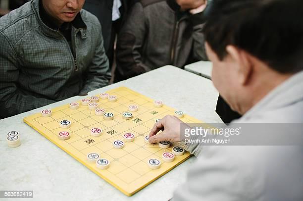Playing chinese chess (Xiang Qi) in Vietnam