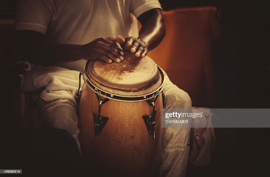playing congas : Stock Photo