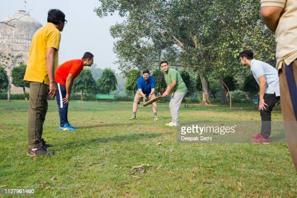 playing cricket - stock images - batsman stock pictures, royalty-free photos & images