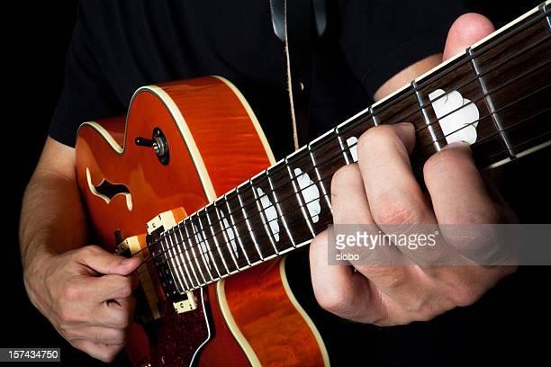jouer à la guitare électrique - rockabilly photos et images de collection