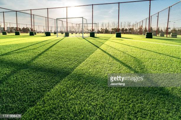playing field - track and field stadium stock pictures, royalty-free photos & images