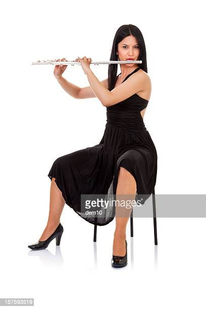 playing flute - soloist stock photos and pictures