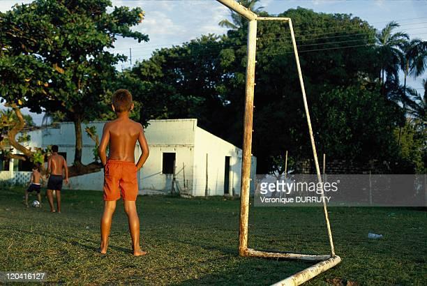 Playing football in Marajo island Brasil Caliente