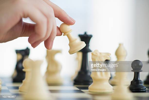 playing game of chess - chess stock pictures, royalty-free photos & images