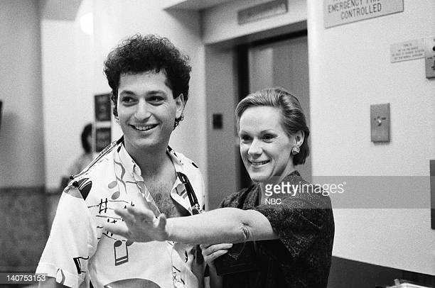 ST ELSEWHERE Playing God Part 2 Episode 2 Pictured Howie Mandel as Dr Wayne Fiscus Tammy Grimes as Fairy Godmother Photo by Jack Hamilton/NBCU Photo...