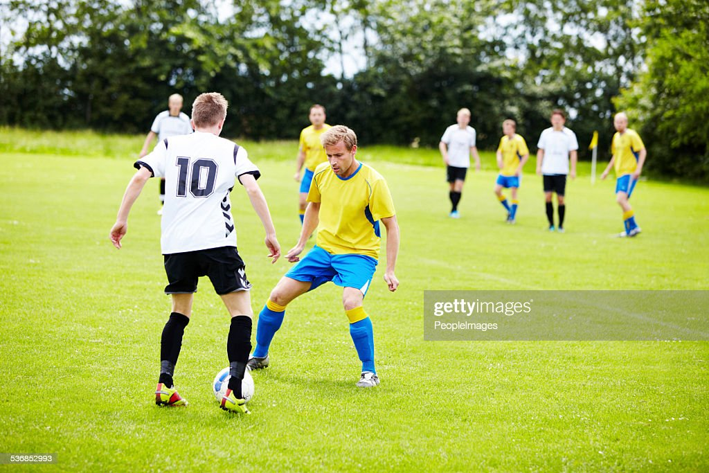 Playing good defense! : Stock Photo