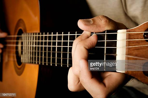 playing guitar - classical guitar stock photos and pictures