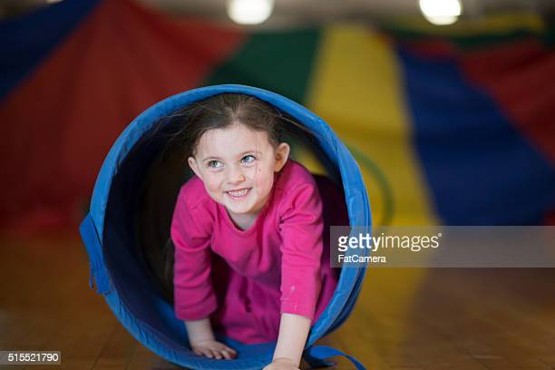 playing happily at recess - obstacle course stock photos and pictures