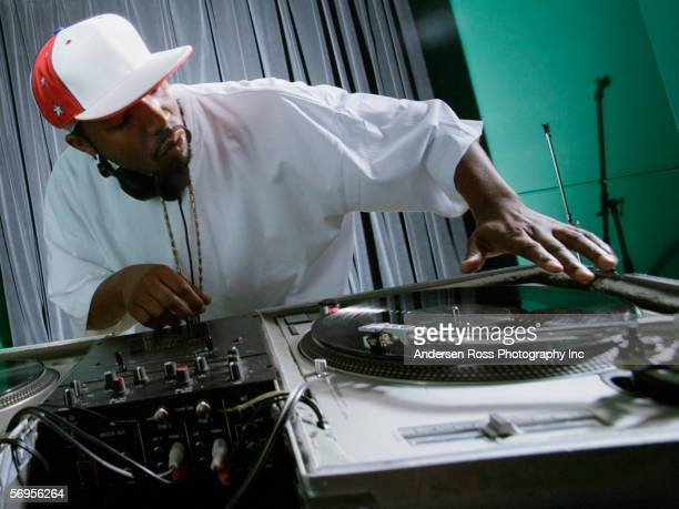 dj playing music - hip hop music stock pictures, royalty-free photos & images