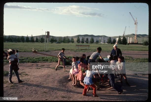 Playing on Crowded Merrygoround Mongolia