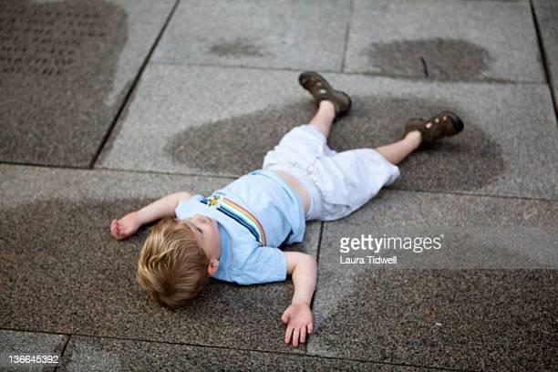 Playing on sidewalk