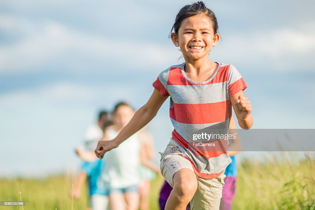 Playing Outside at Recess : Stock Photo