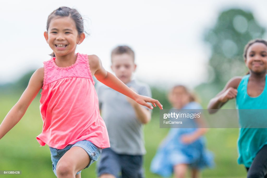 Playing Outside During Recess : Stock Photo