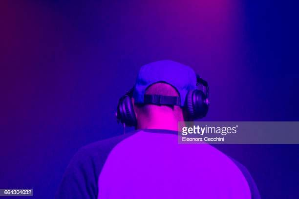 dj playing - dj stock pictures, royalty-free photos & images