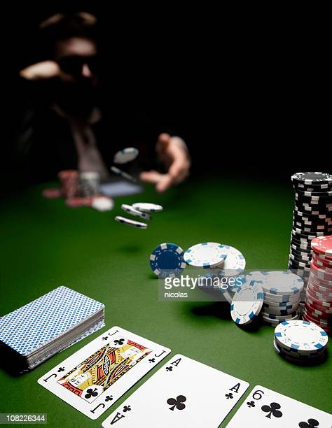 playing poker - poker stock photos and pictures