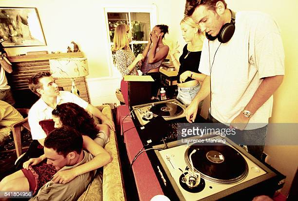 Playing Records at House Party