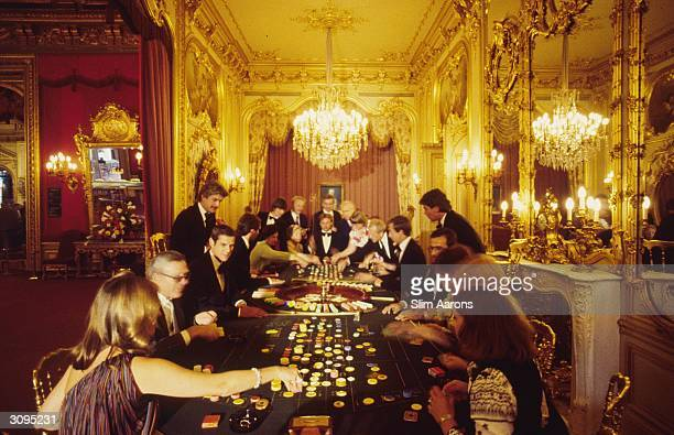 Playing roulette in the luxury casino at BadenBaden south west Germany