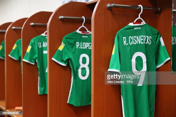 Playing shirts of Mexico are seen in their dressing room prior to the FIFA U20 World Cup Korea Republic 2017 group B match between of Vanuatu and...
