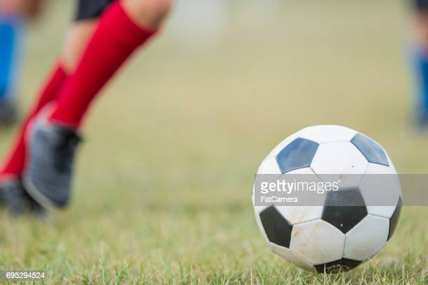 playing soccer - sports training camp stock pictures, royalty-free photos & images