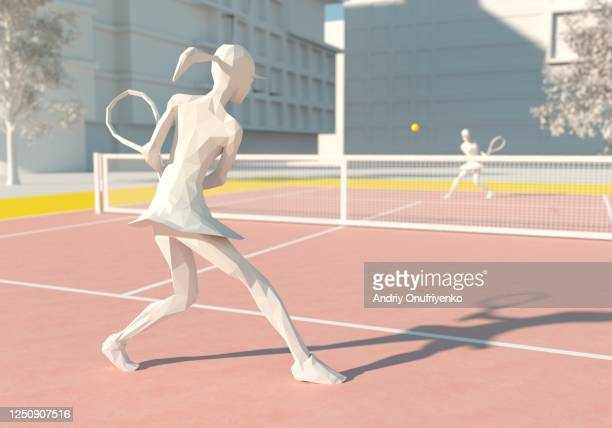 playing tennis - drive ball sports stock pictures, royalty-free photos & images