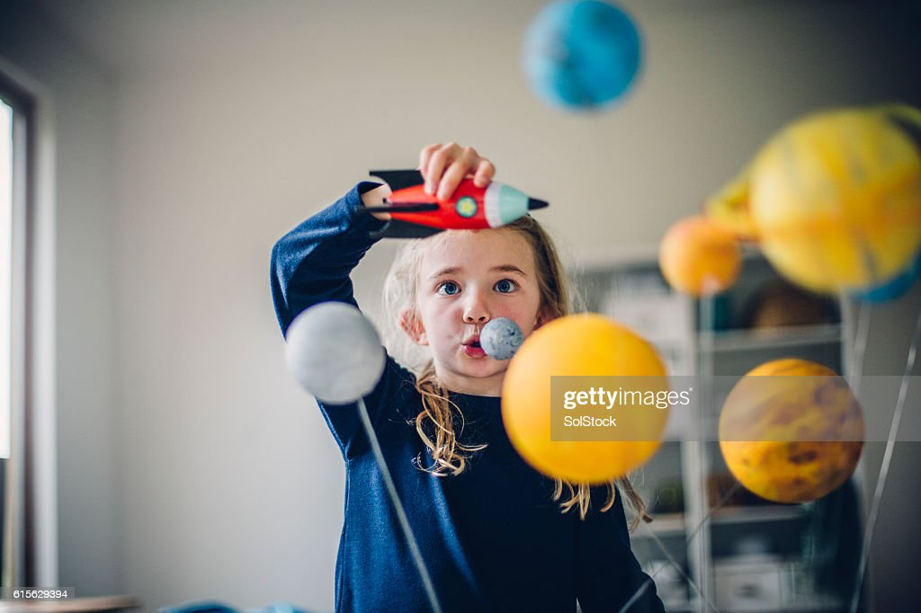 Playing The Astronaut : Stock Photo