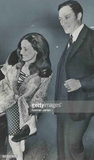 Playing the dating game for the second time since his arrival in London for the Commonwealth Conference Prime Minister Pierre Trudeau escorts...