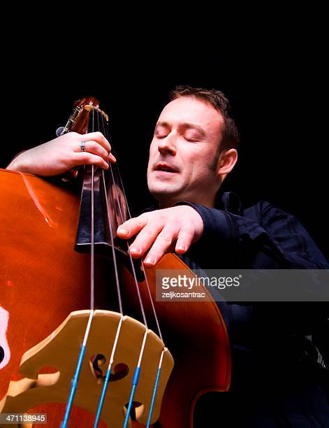 playing the double bass - double bass stock photos and pictures
