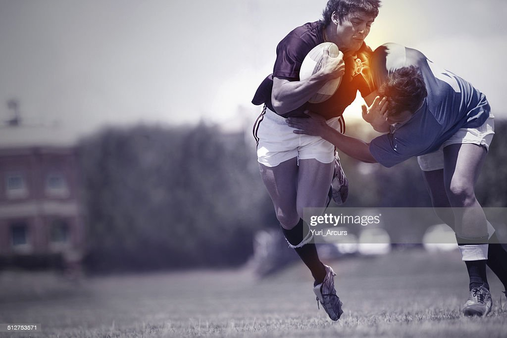 Playing through the pain : Stock Photo