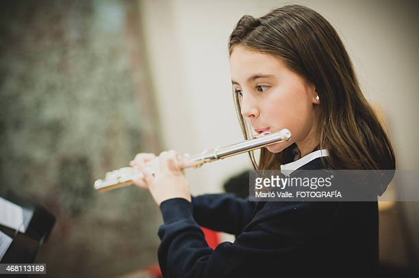 playing tranverse flute