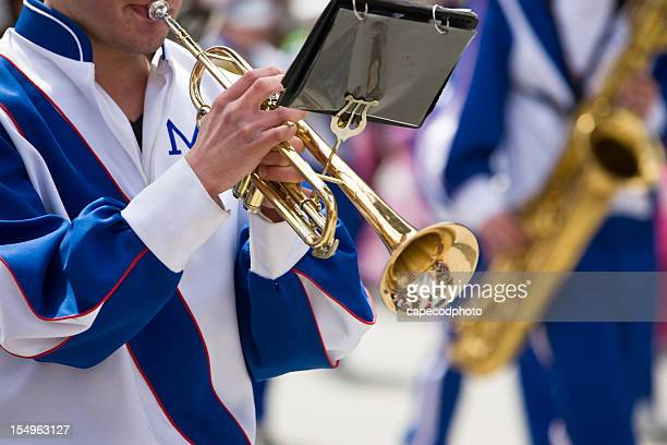 Playing Trumpet in the Parade