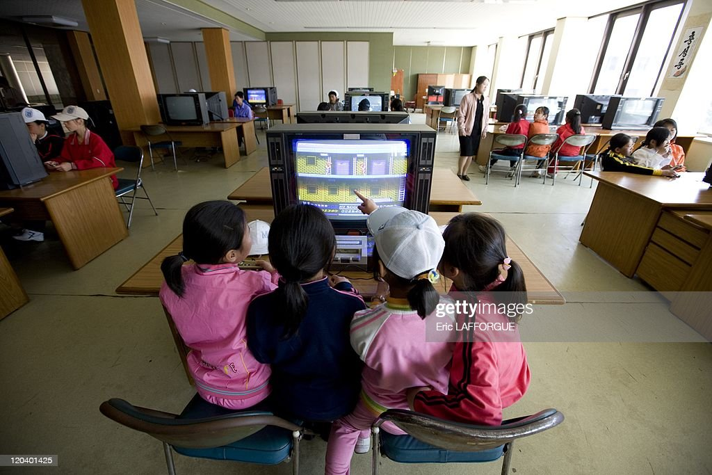 Playing Video Games In Songdowon Camp In North Korea - : News Photo