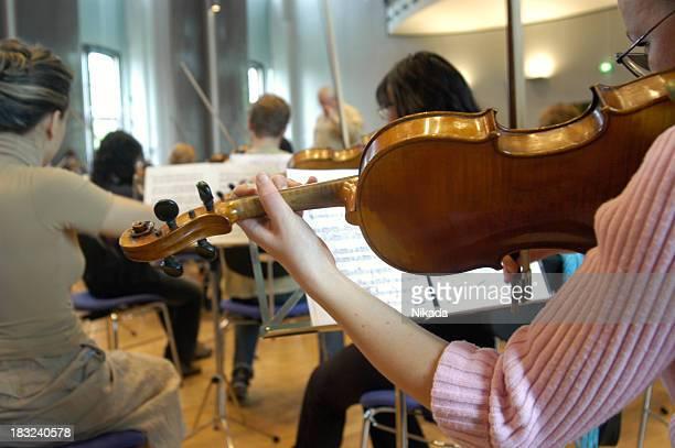 tocando violino - orquestra - fotografias e filmes do acervo