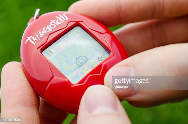 Playing with a Tamagotchi