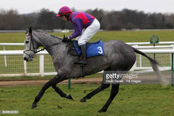 Playing With Fire ridden by jockey Charlie Poste in action during The 100 Percent British Barley Handicap Steeple Chase
