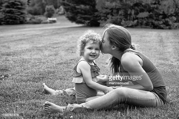 """playing with little girl in the field - """"martine doucet"""" or martinedoucet stock pictures, royalty-free photos & images"""