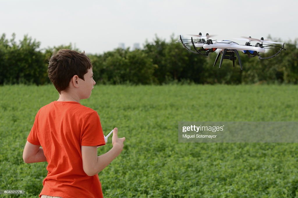 Playing with my drone : Stock Photo
