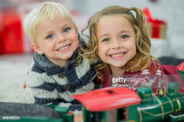 Playing with the Christmas Train